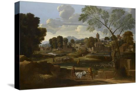 Les Fun?railles de Phocion-Nicolas Poussin-Stretched Canvas Print