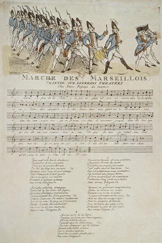 La marche des marseillais.--Stretched Canvas Print