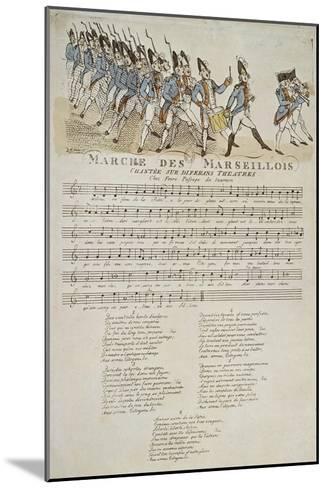 La marche des marseillais.--Mounted Giclee Print
