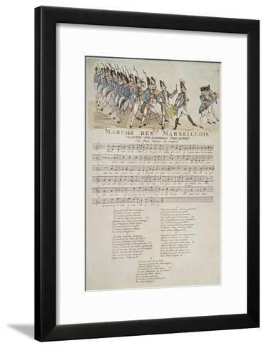 La marche des marseillais.--Framed Art Print