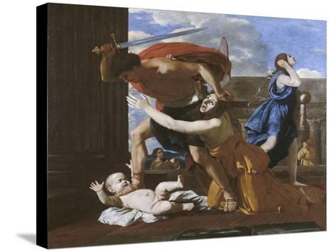 Le massacre des innocents-Nicolas Poussin-Stretched Canvas Print