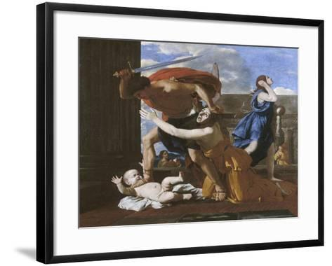 Le massacre des innocents-Nicolas Poussin-Framed Art Print