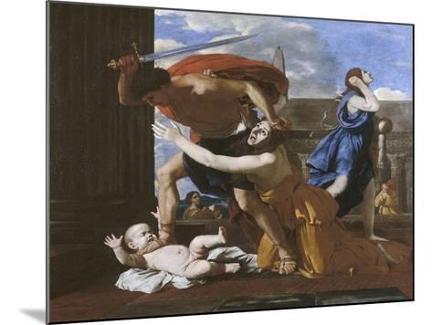 Le massacre des innocents-Nicolas Poussin-Mounted Giclee Print