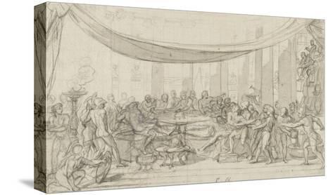 Le dernier banquet d'Alexandre-Charles Le Brun-Stretched Canvas Print