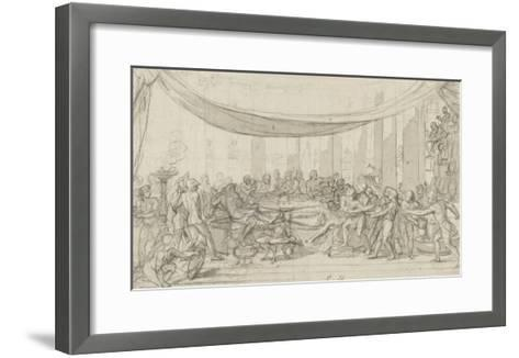 Le dernier banquet d'Alexandre-Charles Le Brun-Framed Art Print