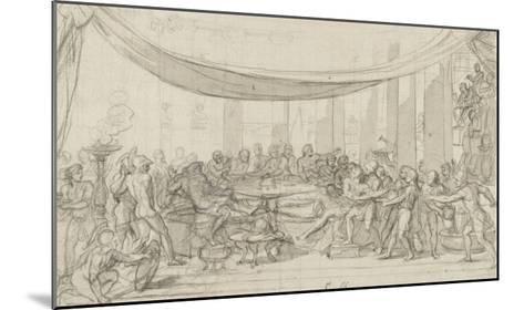 Le dernier banquet d'Alexandre-Charles Le Brun-Mounted Giclee Print
