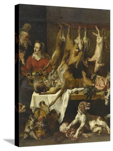 La marchande de gibier-Frans Snyders-Stretched Canvas Print