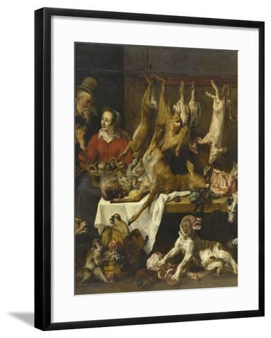 La marchande de gibier-Frans Snyders-Framed Art Print