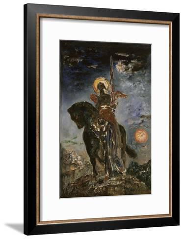 La Parque et l'Ange de la Mort-Gustave Moreau-Framed Art Print