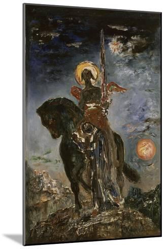 La Parque et l'Ange de la Mort-Gustave Moreau-Mounted Giclee Print