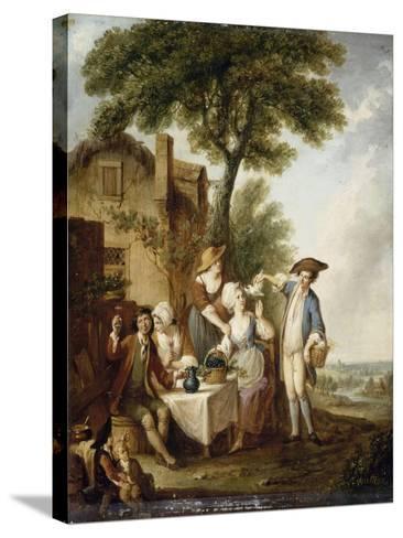 La Jolie colombe-François Louis Joseph Watteau-Stretched Canvas Print
