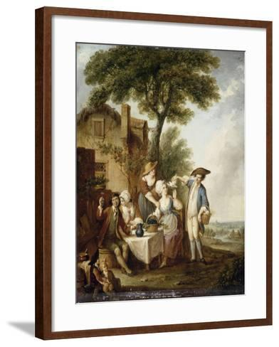 La Jolie colombe-François Louis Joseph Watteau-Framed Art Print