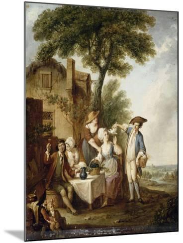 La Jolie colombe-François Louis Joseph Watteau-Mounted Giclee Print