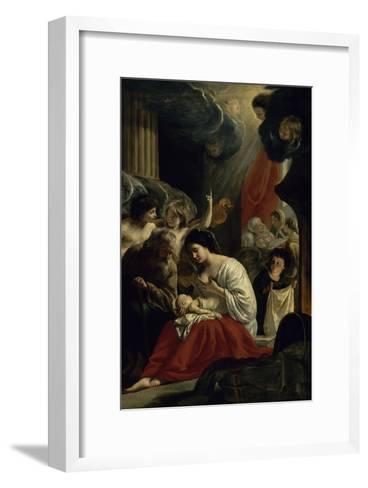 La  Nativité de la Vierge-Mathieu Le Nain-Framed Art Print