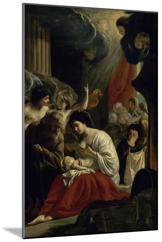 La  Nativité de la Vierge-Mathieu Le Nain-Mounted Giclee Print