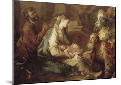 La Nativité, avec l'Adoration des mages-Charles de La Fosse-Mounted Giclee Print