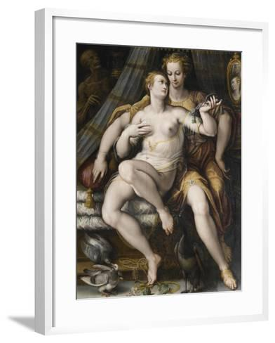 La Moderation désarmant la Vanité-Jan van der Straet-Framed Art Print