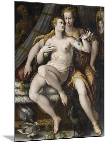 La Moderation désarmant la Vanité-Jan van der Straet-Mounted Giclee Print