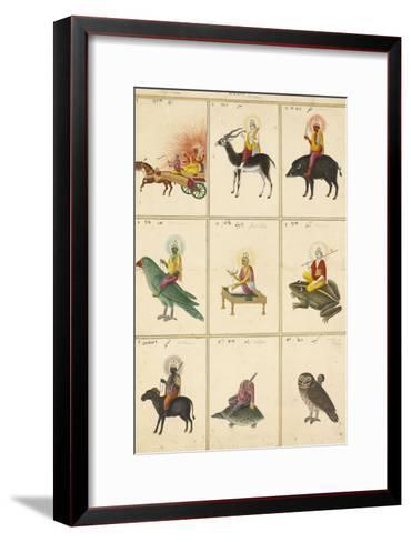 Les Neuf Planètes (Navagrahâ)--Framed Art Print