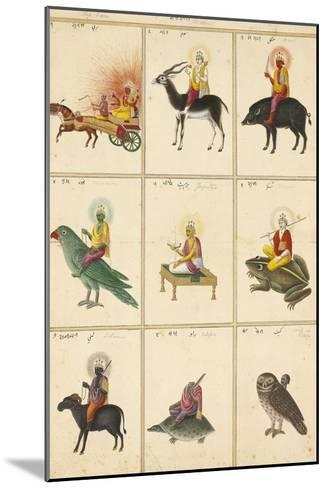 Les Neuf Planètes (Navagrahâ)--Mounted Giclee Print