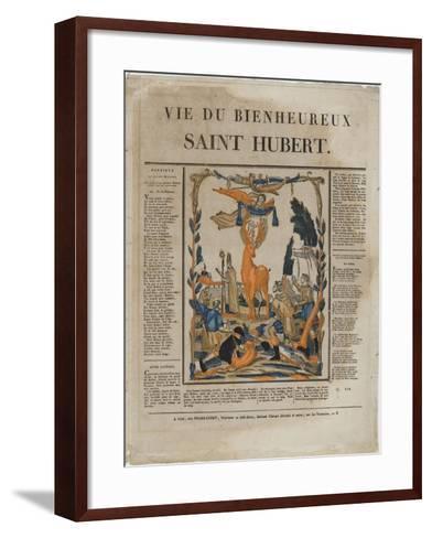 La vie du bienheureux saint Hubert--Framed Art Print
