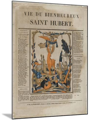 La vie du bienheureux saint Hubert--Mounted Giclee Print