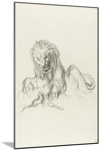 le lion et le rat-Gustave Moreau-Mounted Giclee Print