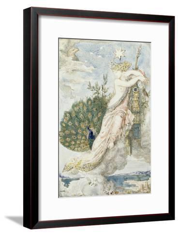 Le Paon se plaignant à Junon. Etude pour les Fables de La Fontaine-Gustave Moreau-Framed Art Print