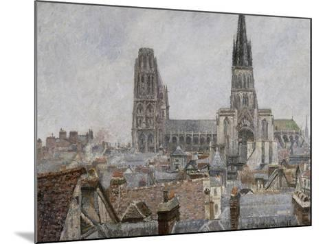 The Roofs of Old Rouen, Grey Weather, 1896 Cathedral-Camille Pissarro-Mounted Giclee Print