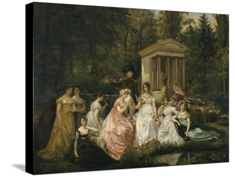 La Rose de Malmaison-du Vigneau Victor Viger-Stretched Canvas Print