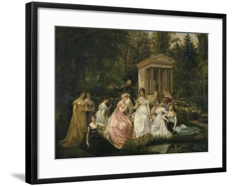 La Rose de Malmaison-du Vigneau Victor Viger-Framed Art Print