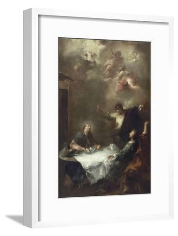 Les pèlerins d'Emmaüs-Francesco Guardi-Framed Art Print