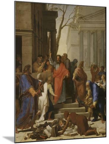 La Prédication de saint Paul à Ephèse-Eustache Le Sueur-Mounted Giclee Print