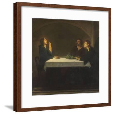 Les pèlerins d'Emmaüs-Henry Ossawa Tanner-Framed Art Print