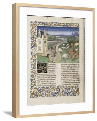 """Le Rustican ou """"Livre des proffitz champestres et ruraulx"""" par Pietro de Crescenzi-du Boccace de Genève Maître-Framed Art Print"""