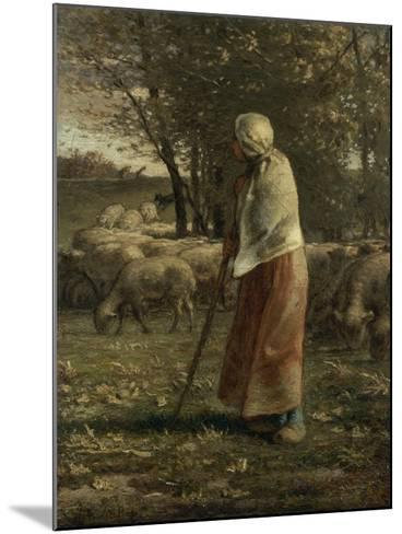 La petite berg�-Jean-Fran?ois Millet-Mounted Giclee Print