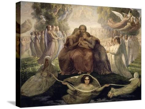 Le Poème de l'âme. Génération divine-Louis Janmot-Stretched Canvas Print