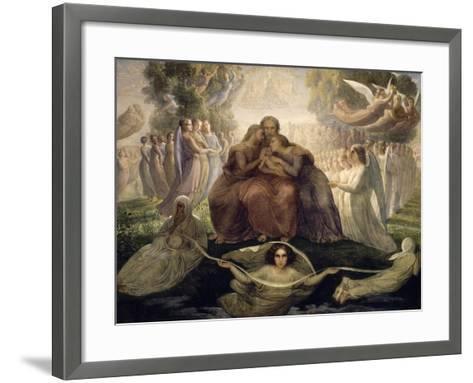 Le Poème de l'âme. Génération divine-Louis Janmot-Framed Art Print