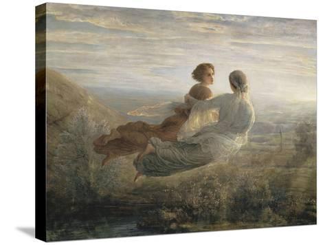 Le Poème de l'âme. Le vol de l'Âme-Louis Janmot-Stretched Canvas Print