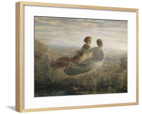 Le Poème de l'âme. Le vol de l'Âme-Louis Janmot-Framed Art Print