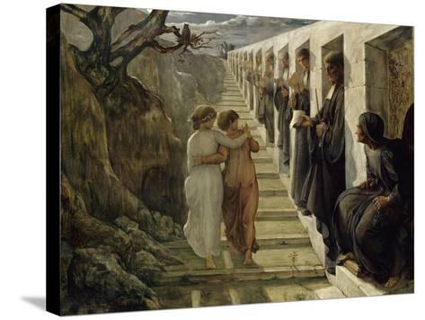 Le Poème de l'âme. Le Mauvais sentier-Louis Janmot-Stretched Canvas Print
