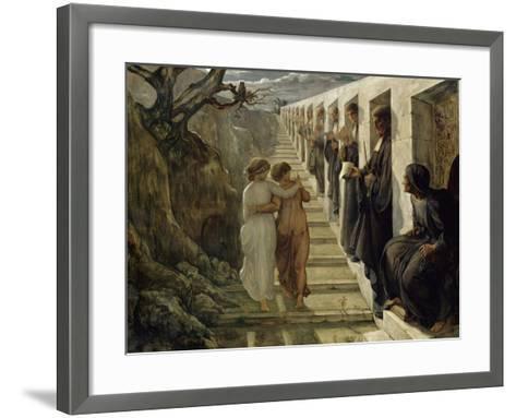 Le Poème de l'âme. Le Mauvais sentier-Louis Janmot-Framed Art Print