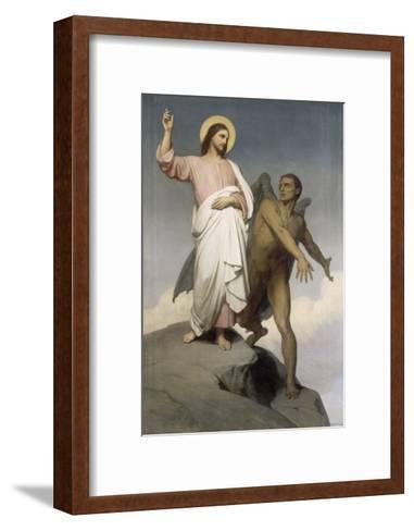 La tentation du Christ-Ary Scheffer-Framed Art Print