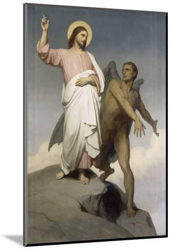 La tentation du Christ-Ary Scheffer-Mounted Giclee Print