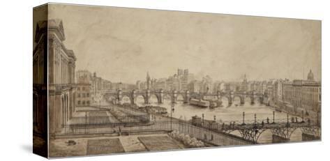 Le pont des Arts--Stretched Canvas Print