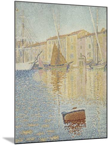 La Bouée rouge, Saint-Tropez-Paul Signac-Mounted Giclee Print