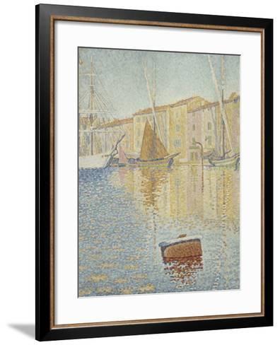 La Bouée rouge, Saint-Tropez-Paul Signac-Framed Art Print