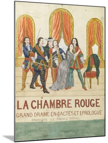 La chambre rouge, grand drame en 4 actes et 1 prologue, prologue le price royal--Mounted Giclee Print
