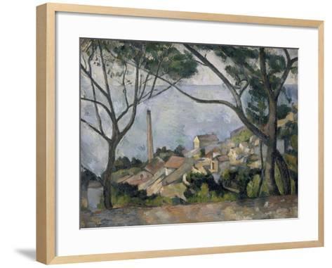 La mer à l'Estaque-Paul C?zanne-Framed Art Print