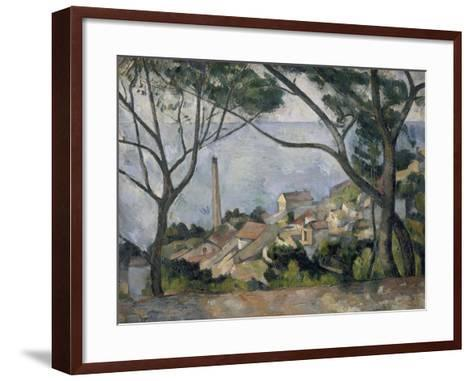La mer à l'Estaque-Paul C?zanne-Framed Art Print